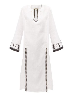 ZEUS + DIONE tangara embroidered linen midi dress