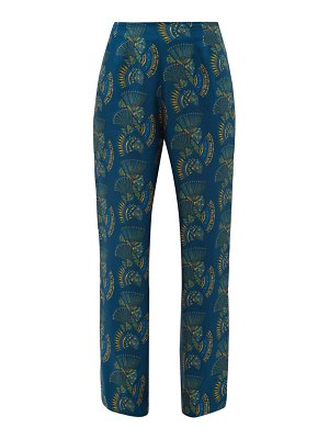 ZEUS + DIONE themis fan print silk twill trousers
