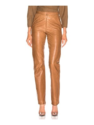 Zeynep Arcay high waisted cigarette leather pant