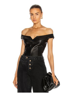 Zeynep Arcay princess leather bodysuit