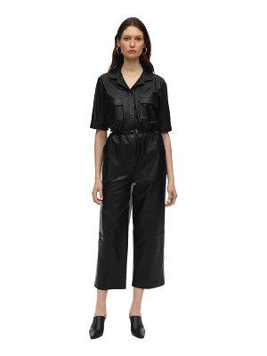 Zeynep Arcay Utility leather  jumpsuit