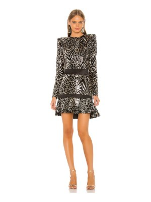 Zhivago mokai nights mini dress
