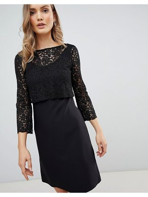 Zibi London 3/4 sleeve lace shift dress