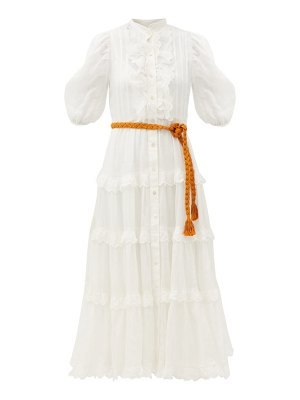 Zimmermann amelie tiered gauze midi dress