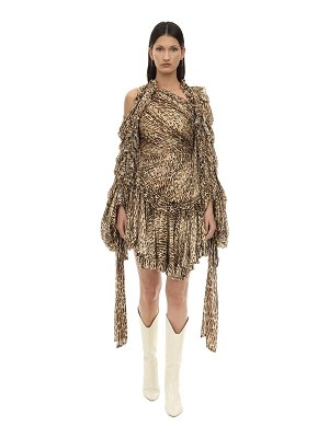 Zimmermann Animal print crepe de chine mini dress