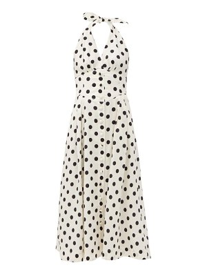 Zimmermann bellitude polka-dot linen-blend dress