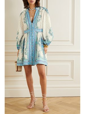 Zimmermann bells paisley-print linen mini dress