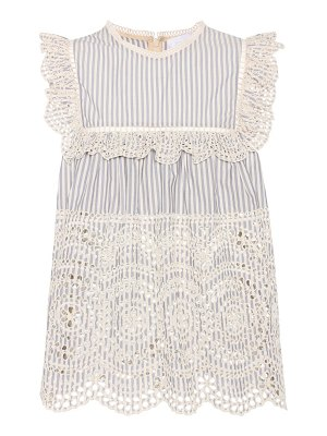 Zimmermann Broderie anglaise cotton top