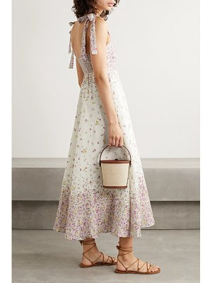 Zimmermann carnaby floral-print linen midi dress