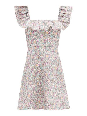 Zimmermann carnaby ruffled floral-print cotton mini dress