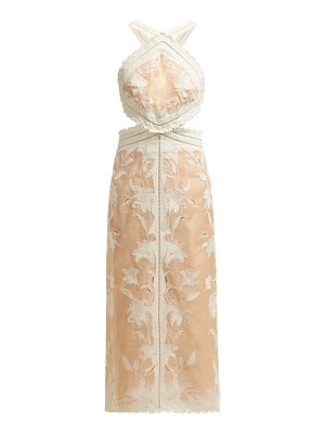 Zimmermann Corsage Lily Halterneck Dress
