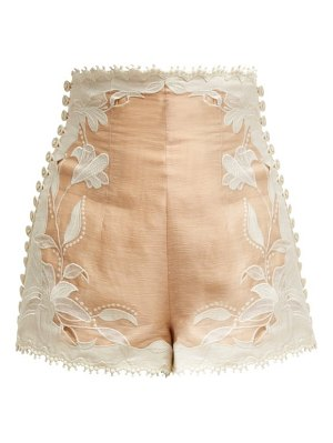Zimmermann Corsage Lily Lace Shorts