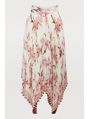 Zimmermann Corsage pleated midi skirt