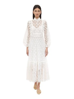Zimmermann Embroidered cotton midi dress