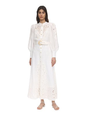 Zimmermann Embroidered linen midi dress
