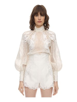 Zimmermann Embroidered voile shirt