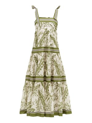 Zimmermann empire botanical-print cotton-poplin midi dress