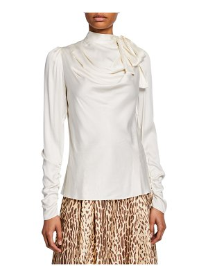 Zimmermann Espionage Silk Cowl Blouse