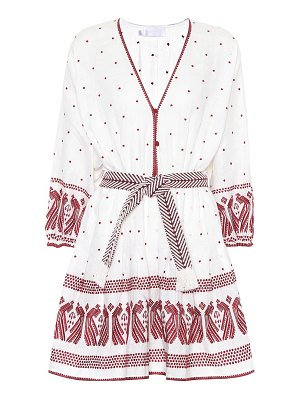 Zimmermann embroidered linen dress