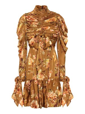Zimmermann resistance floral silk-satin dress