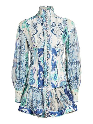 Zimmermann glassy long-sleeve mini dress