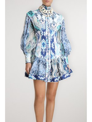 Zimmermann glassy printed linen mini dress