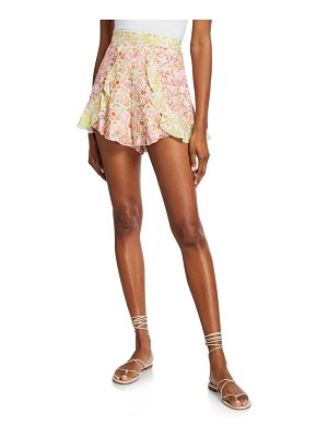 Zimmermann Goldie Splice Frill Short Shorts