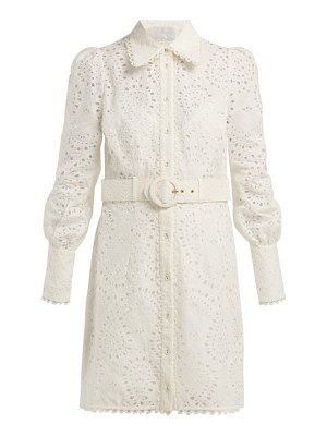Zimmermann heathers belted broderie anglaise mini dress