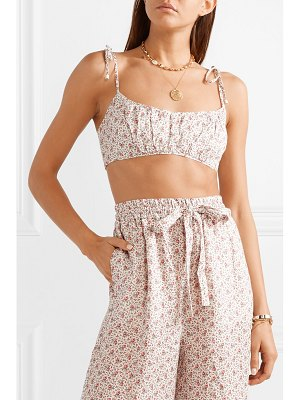 Zimmermann heathers cropped floral-print linen top