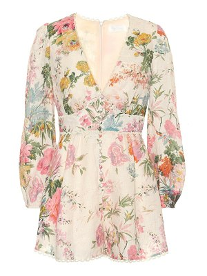 Zimmermann Heathers floral linen playsuit