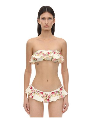 Zimmermann Honour printed bandeau bikini top