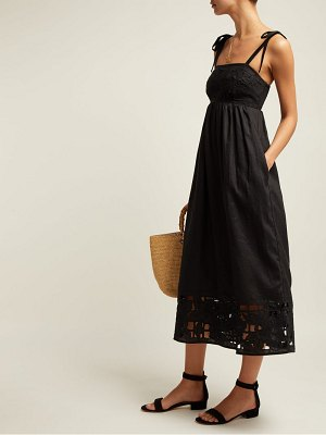 Zimmermann juno guipure lace linen midi dress