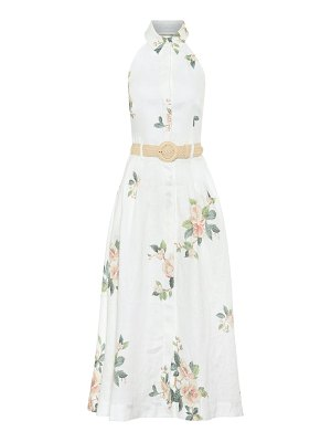 Zimmermann kirra floral linen midi dress