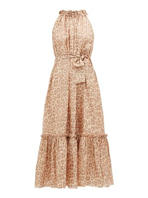 Zimmermann kirra leopard-print silk-satin maxi dress