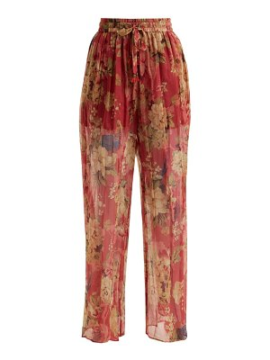 Zimmermann Melody floral-print silk trousers