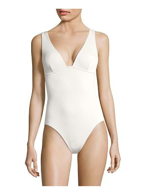 Zimmermann one-piece triangle swimsuit