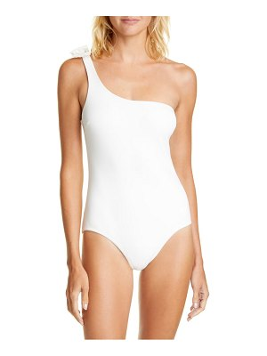 Zimmermann one shoulder bow one-piece swimsuit
