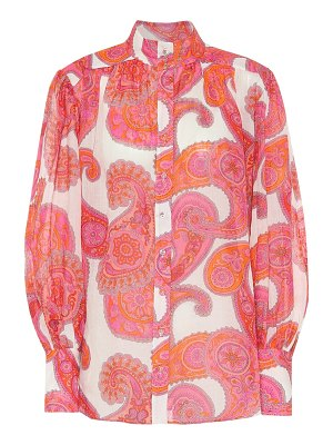 Zimmermann peggy paisley ramie blouse