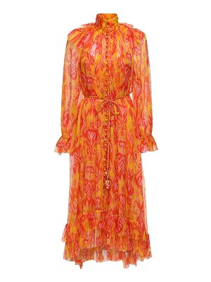 Zimmermann Printed silk georgette midi dress