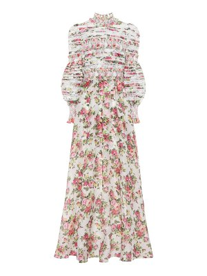 Zimmermann Radiate linen and silk gown