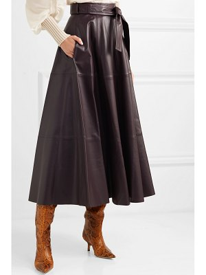 Zimmermann resistance leather midi skirt