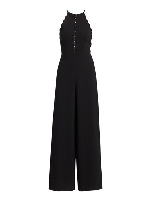 Zimmermann scalloped crepe halter jumpsuit