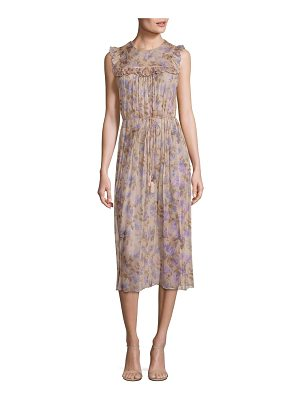 Zimmermann Stranded Ruffled Silk Midi Dress