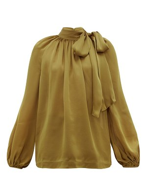 Zimmermann super eight pussy bow silk charmeuse blouse