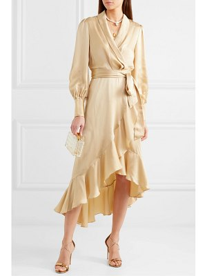 Zimmermann super eight ruffled silk wrap midi dress