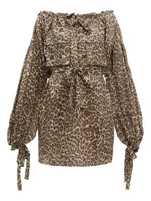Zimmermann suraya leopard print silk dress