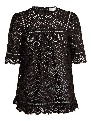 Zimmermann Tali Swirl Broderie Anglaise Cotton Top