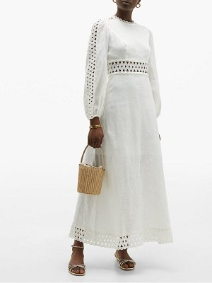 Zimmermann verity broderie anglaise linen maxi dress