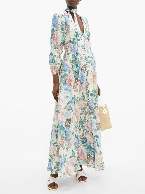 Zimmermann verity floral print dress