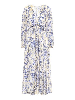 Zimmermann verity printed silk midi dress